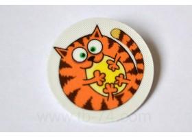 """Световозвращающий значок """"Рыжий кот"""""""