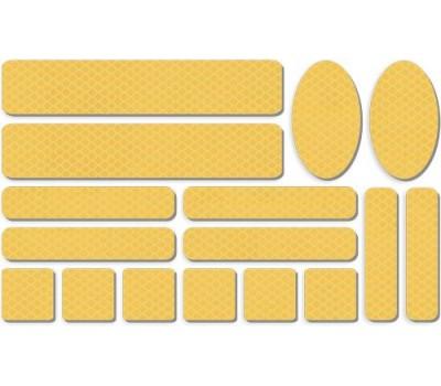 """Световозвращатель """"Набор велосипедиста"""" (набор наклеек, желтый)"""