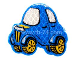 """Световозвращатель """"Машинка детская синяя"""" (значок)"""