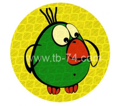 """Световозвращатель """"Попугай"""" (значок)"""