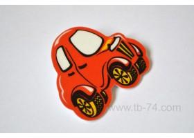 """Световозвращатель """"Машинка детская красная"""" (значок)"""
