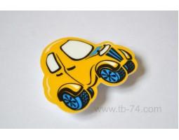 """Световозвращатель """"Машинка детская желтая"""" (значок)"""