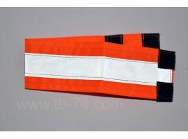 Повязка светоотражающая 55x410 оранжевая
